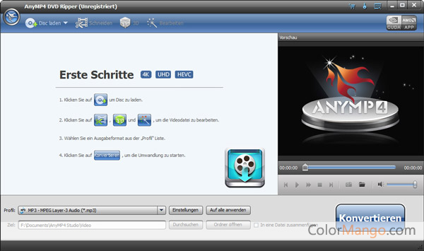 AnyMP4 DVD Ripper Screenshot