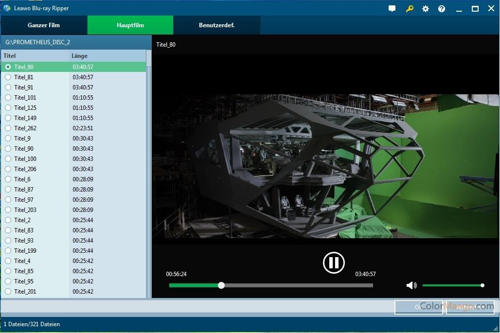 Leawo Blu-ray Ripper Screenshot