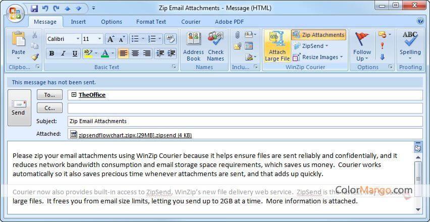 WinZip Courier Screenshot