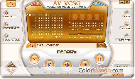 AV Voice Changer Software Gold Screenshot