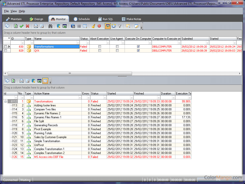 Advanced ETL Processor Enterprise スクリーンショット