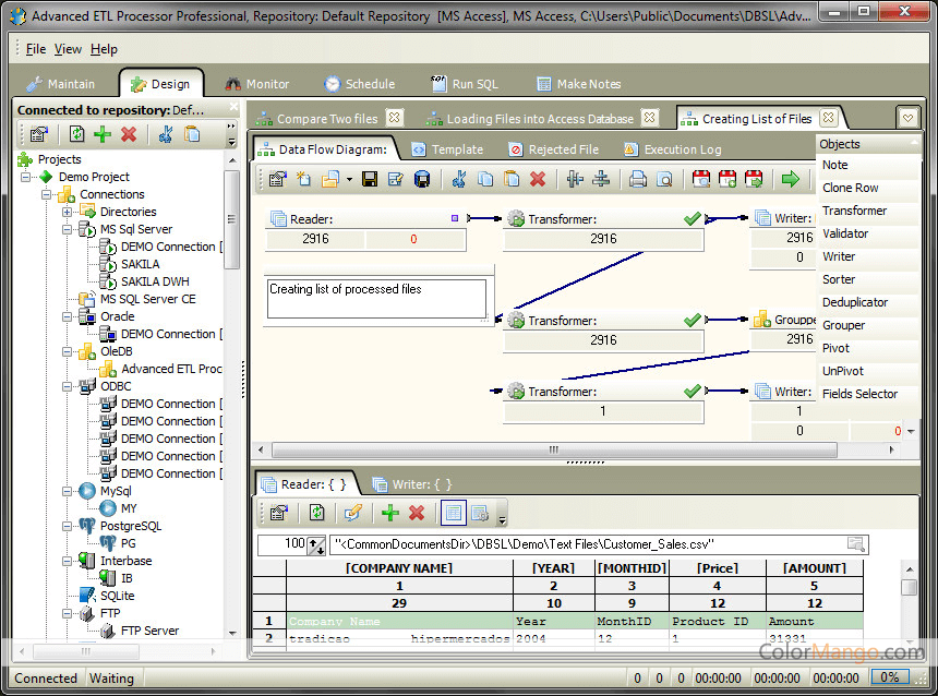 Advanced ETL Processor Professional Bildschirmfoto