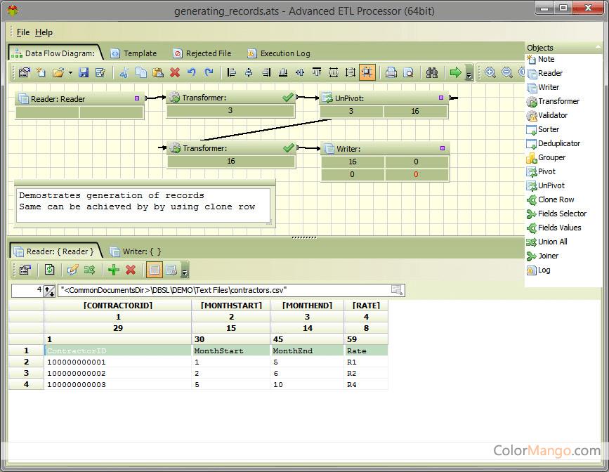 Advanced ETL Processor Standard Bildschirmfoto