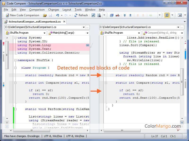 Code Compare Pro Bildschirmfoto