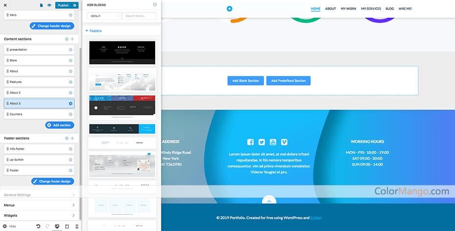 Colibri WordPress Pro Capture D'écran