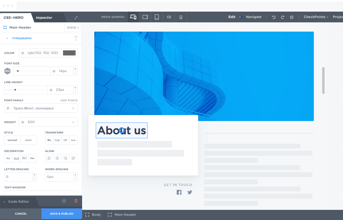 CSS Hero Capture D'écran