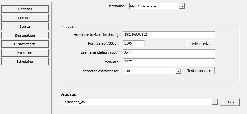 DBConvert for MSSQL & MySQL Screenshot