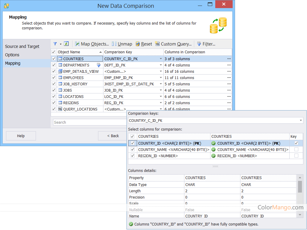 dbForge Data Compare for Oracle Screenshot