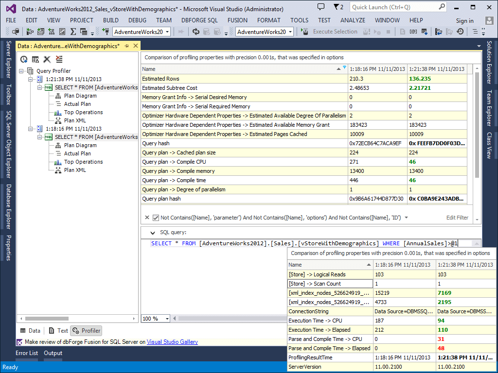 dbForge Fusion for SQL Server Screenshot
