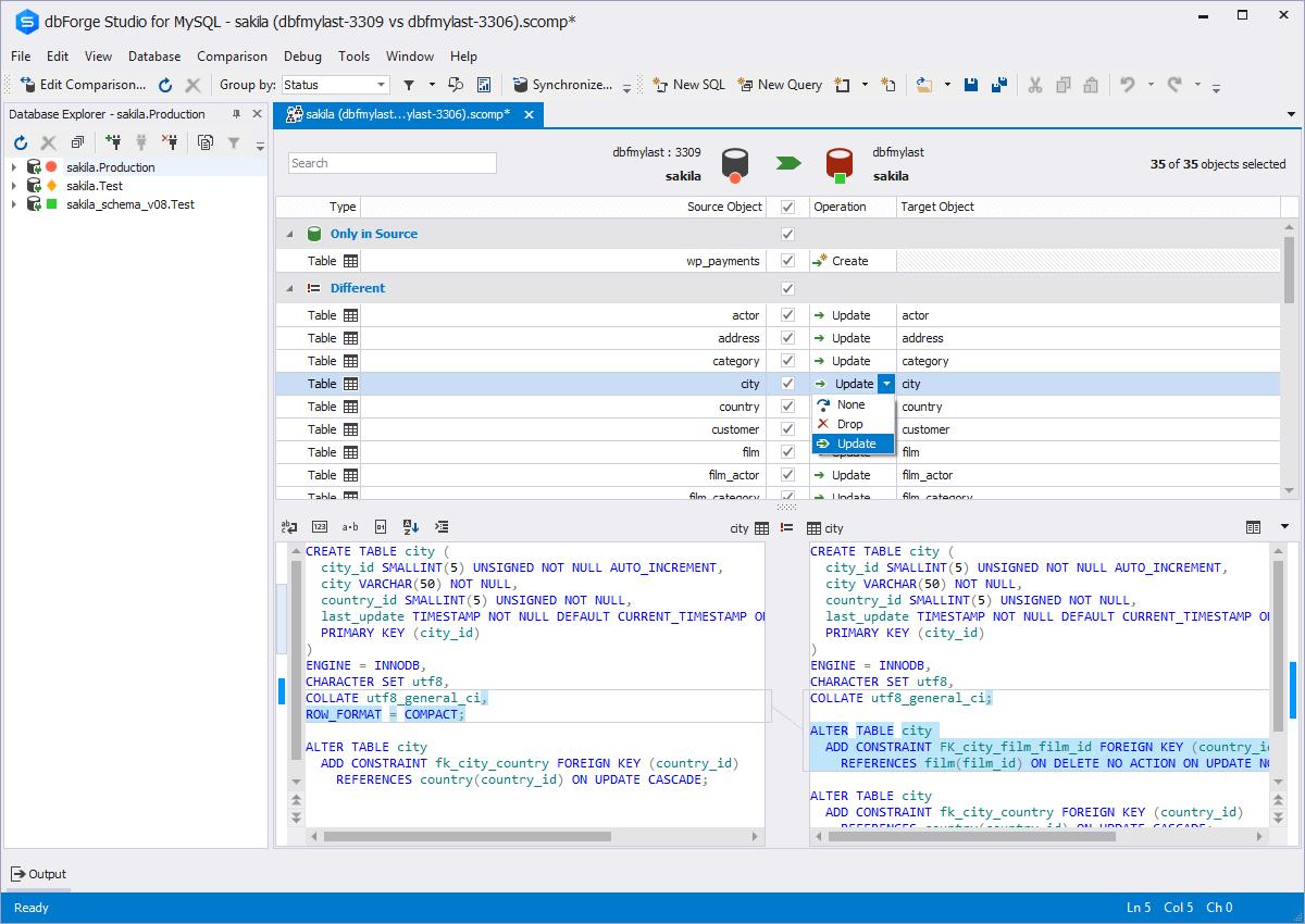 dbForge Studio for MySQL Screenshot