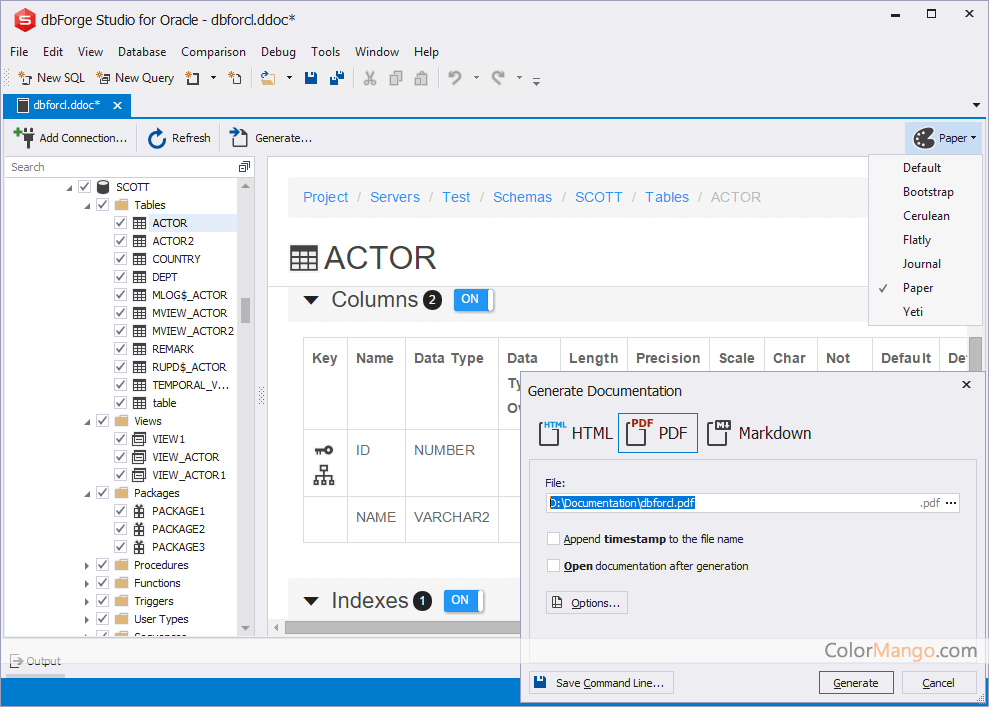 dbForge Studio for Oracle Screenshot
