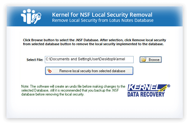Kernel for NSF Local Security Removal Screenshot