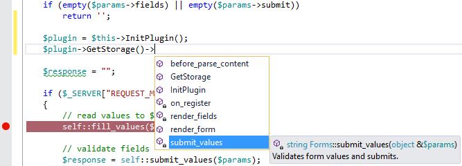 PHP Tools for Visual Studio Screenshot