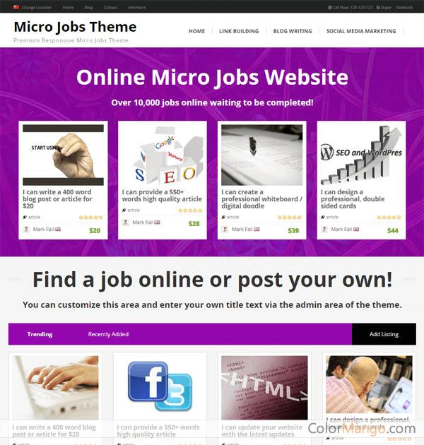 PremiumPress Micro Jobs Theme 75% Discount