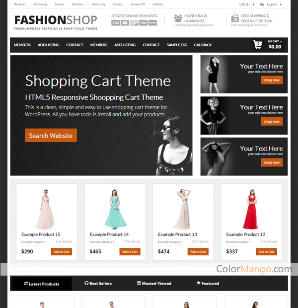 PremiumPress Shop Theme Screenshot