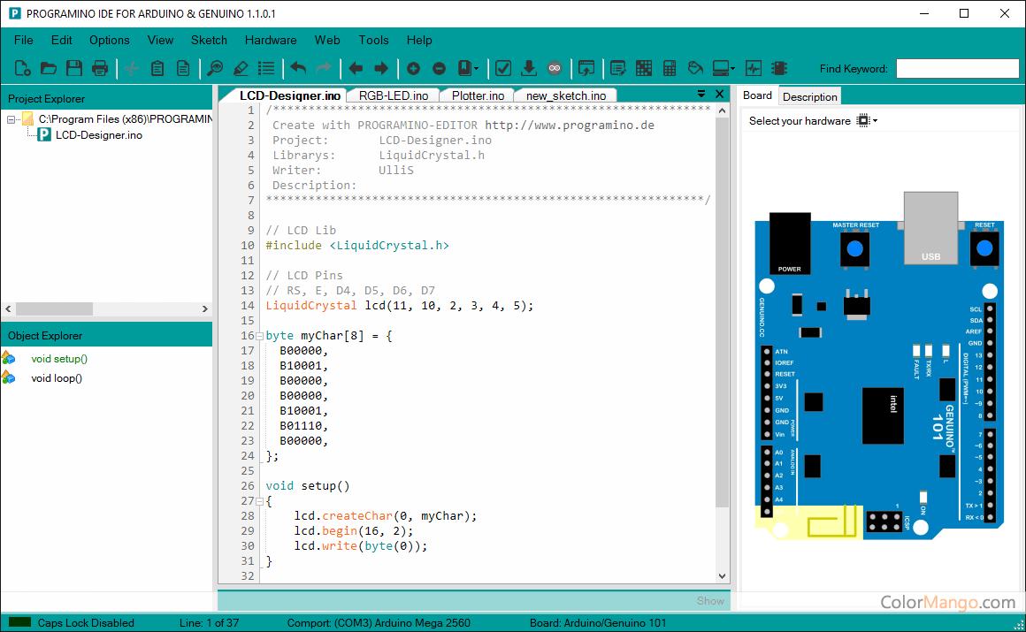 PROGRAMINO IDE for Arduino スクリーンショット