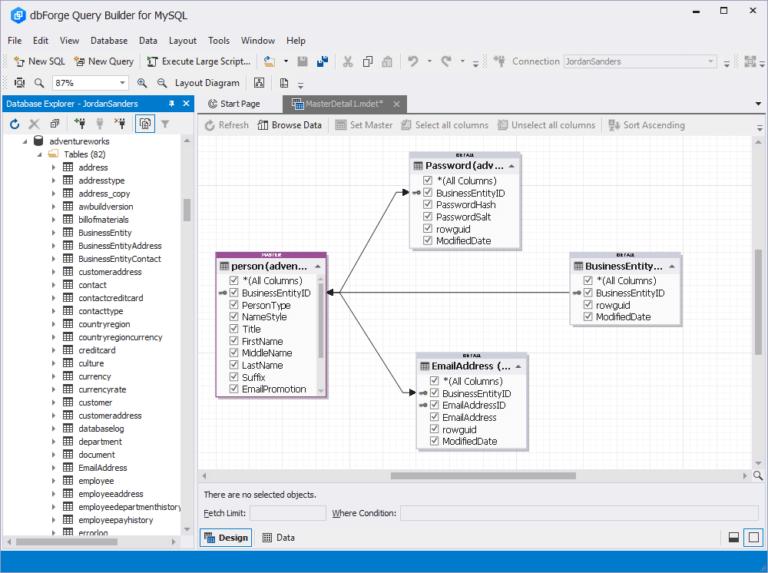 Query Builder for MySQL Screenshot