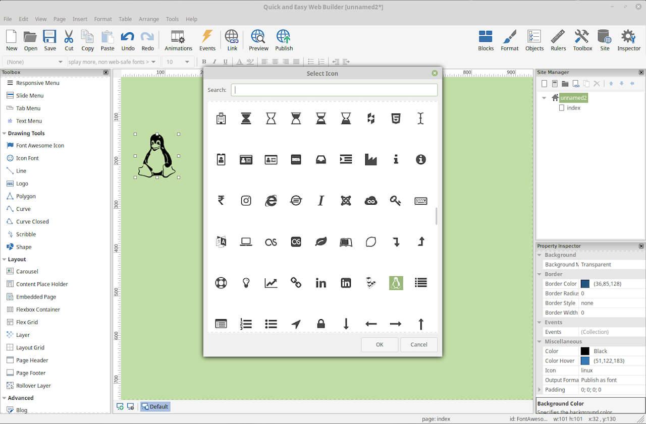 Quick 'n Easy Web Builder Bildschirmfoto