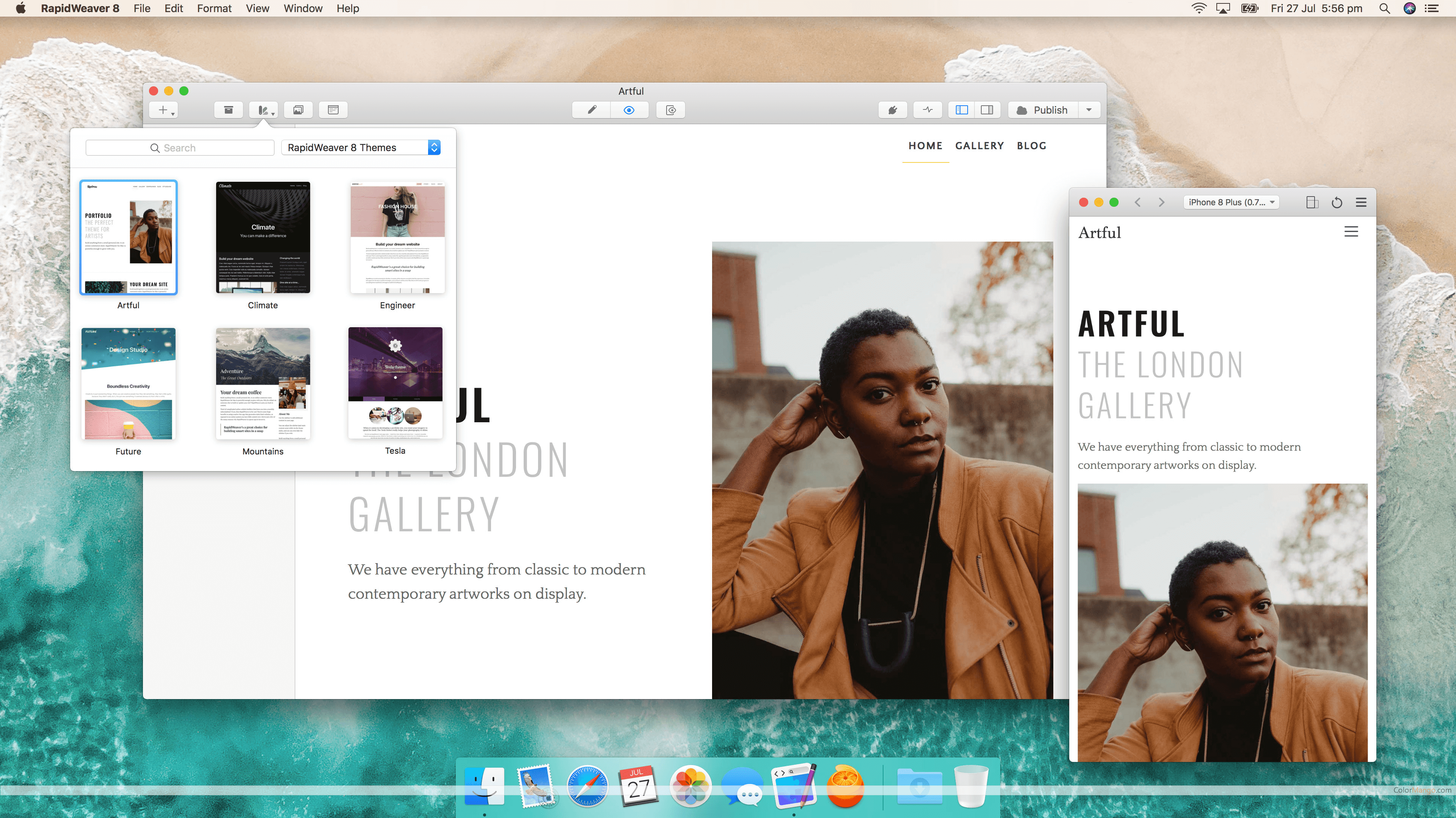 RapidWeaver Screenshot