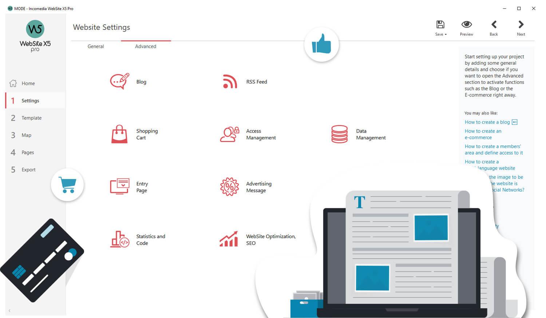 WebSite X5 Screenshot