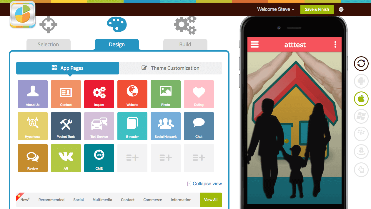 Appy Pie App Maker Screenshot