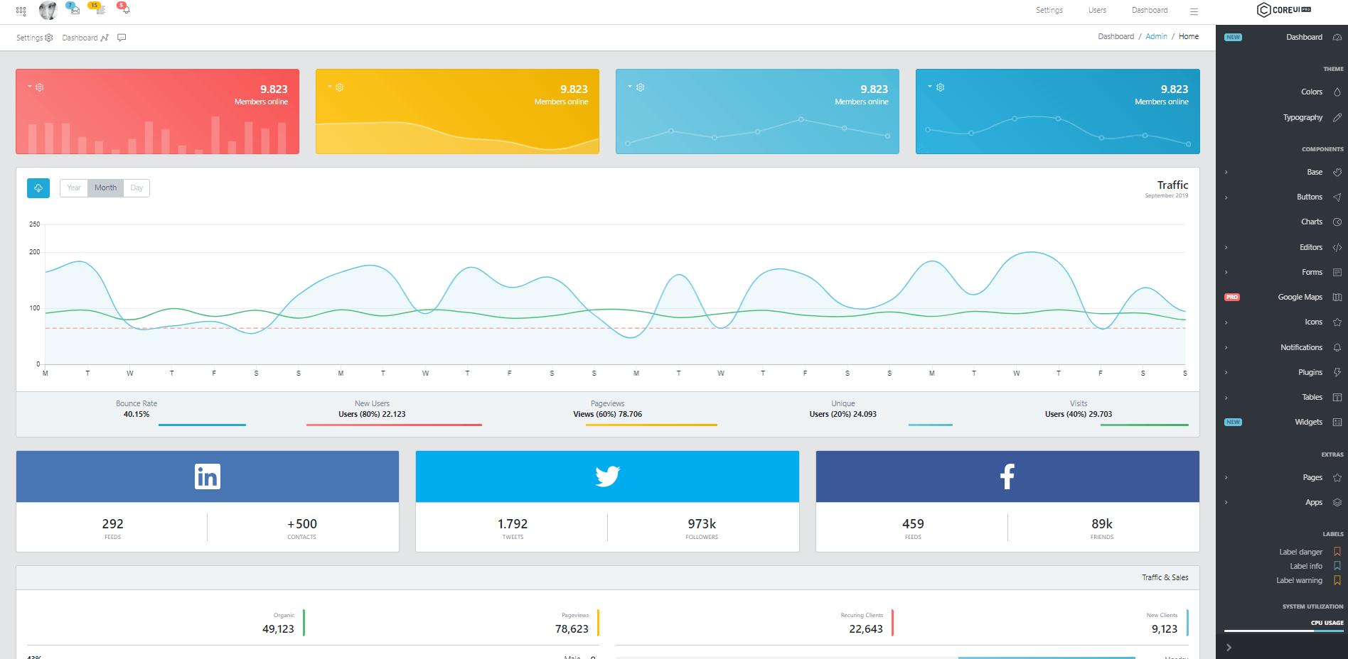 CoreUI PRO Screenshot