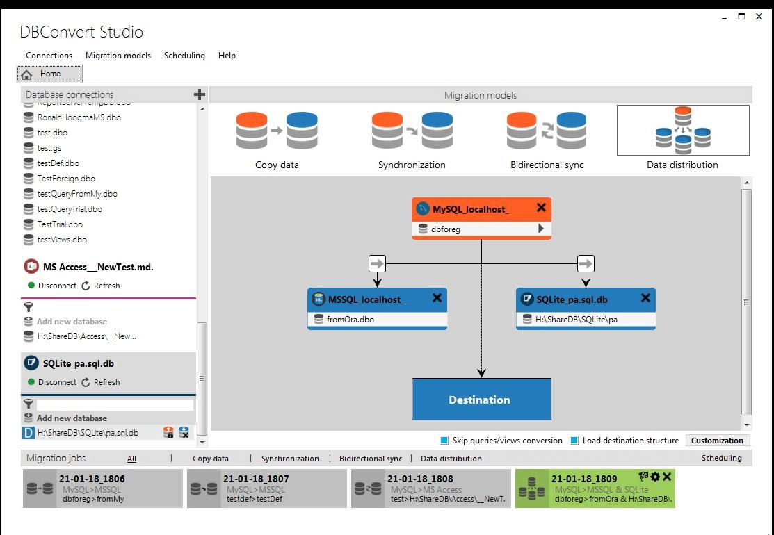 DBConvert Studio Screenshot