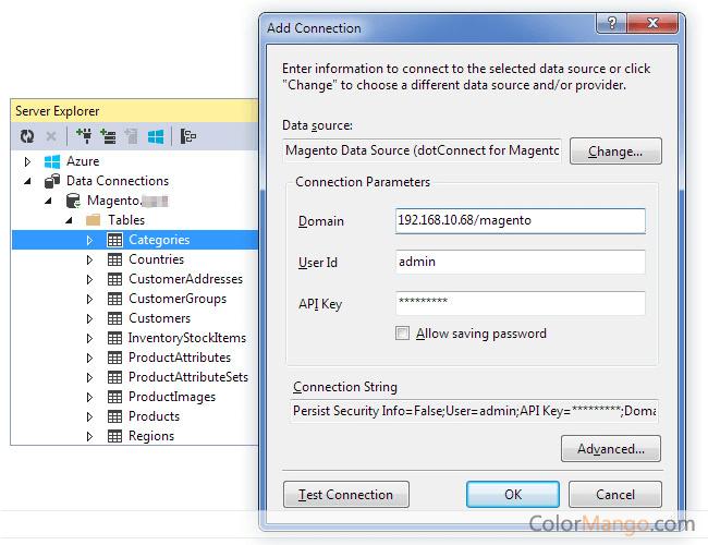 dotConnect for Magento Screenshot