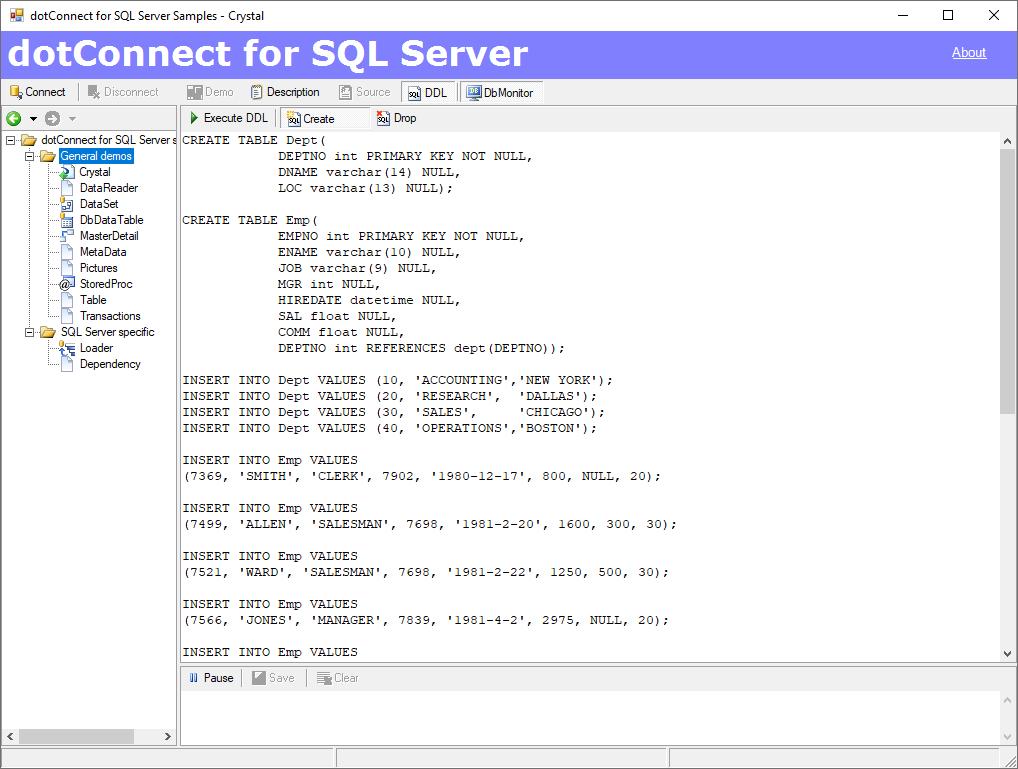 dotConnect for SQL Server Screenshot