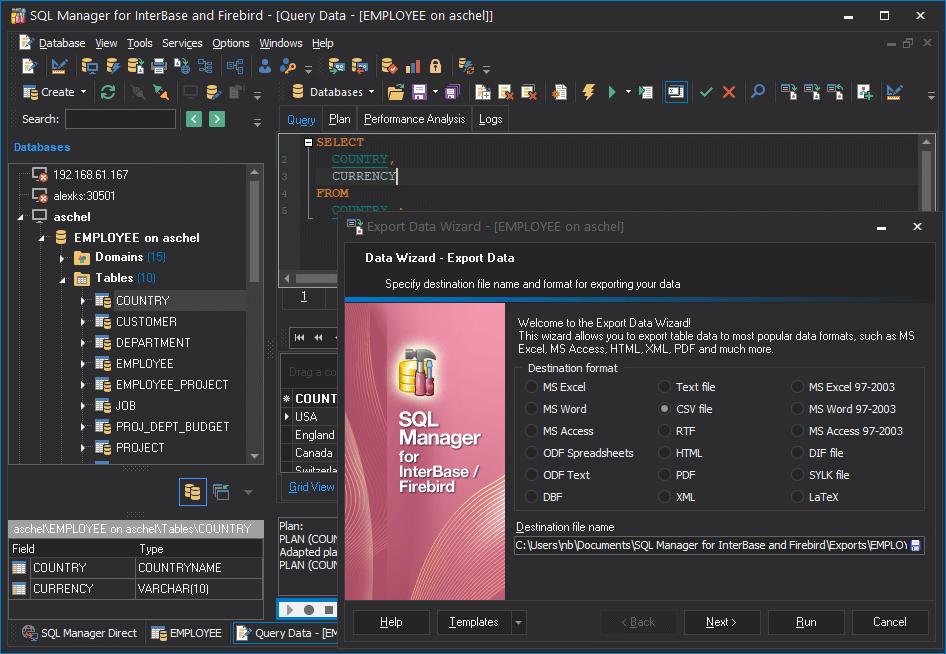 EMS SQL Manager for InterBase/Firebird Screenshot