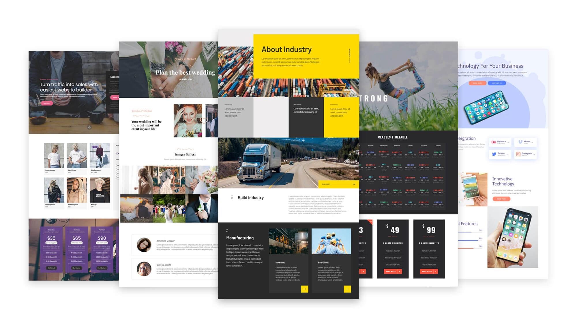 Mobirise Website Builder Kit Screenshot