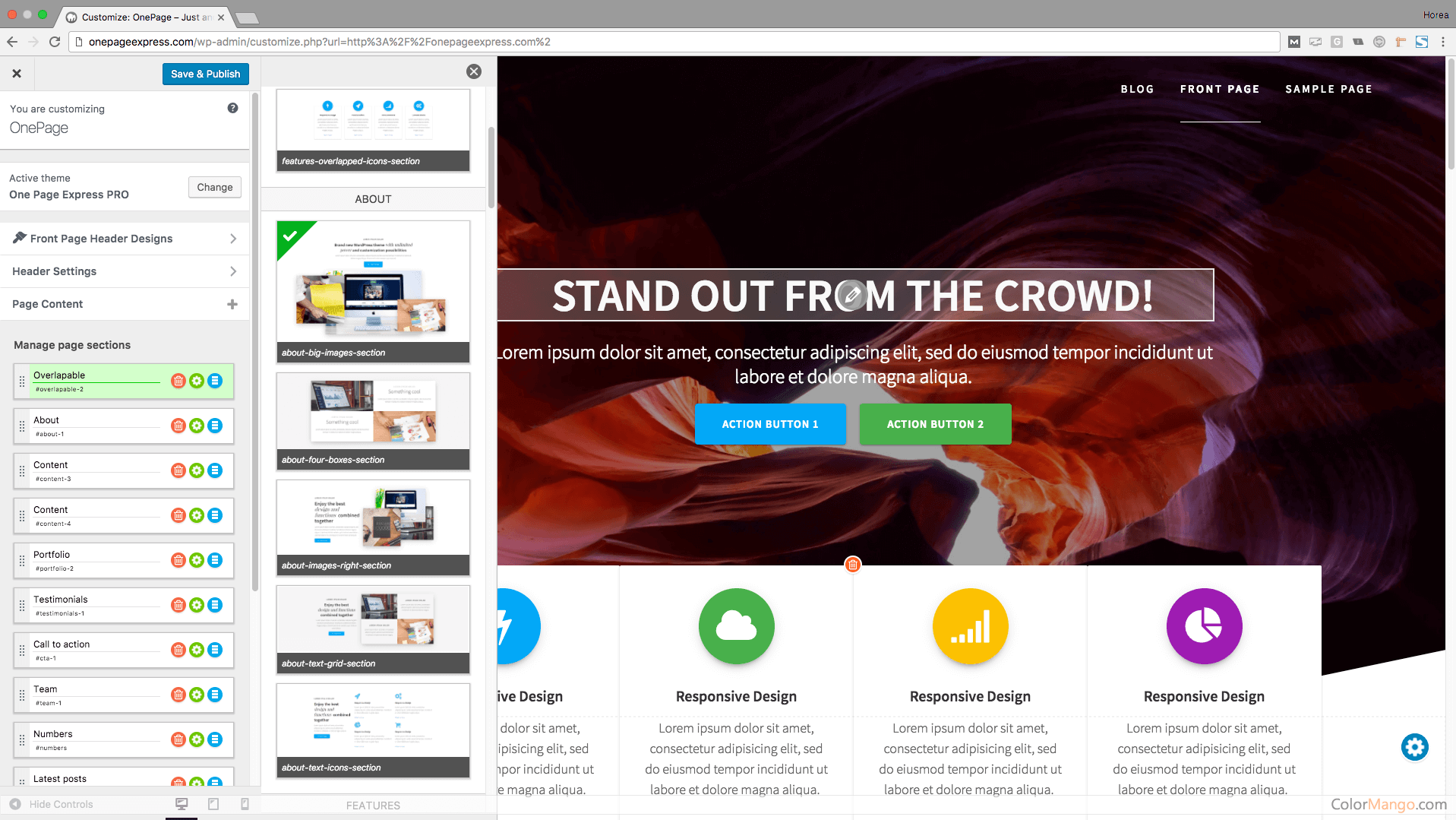 One Page Express PRO Screenshot