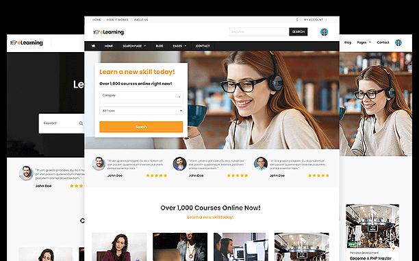 PremiumPress LMS eLearning Theme Screenshot