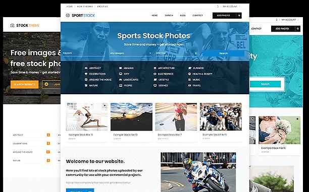 PremiumPress Stock Photography Theme Screenshot