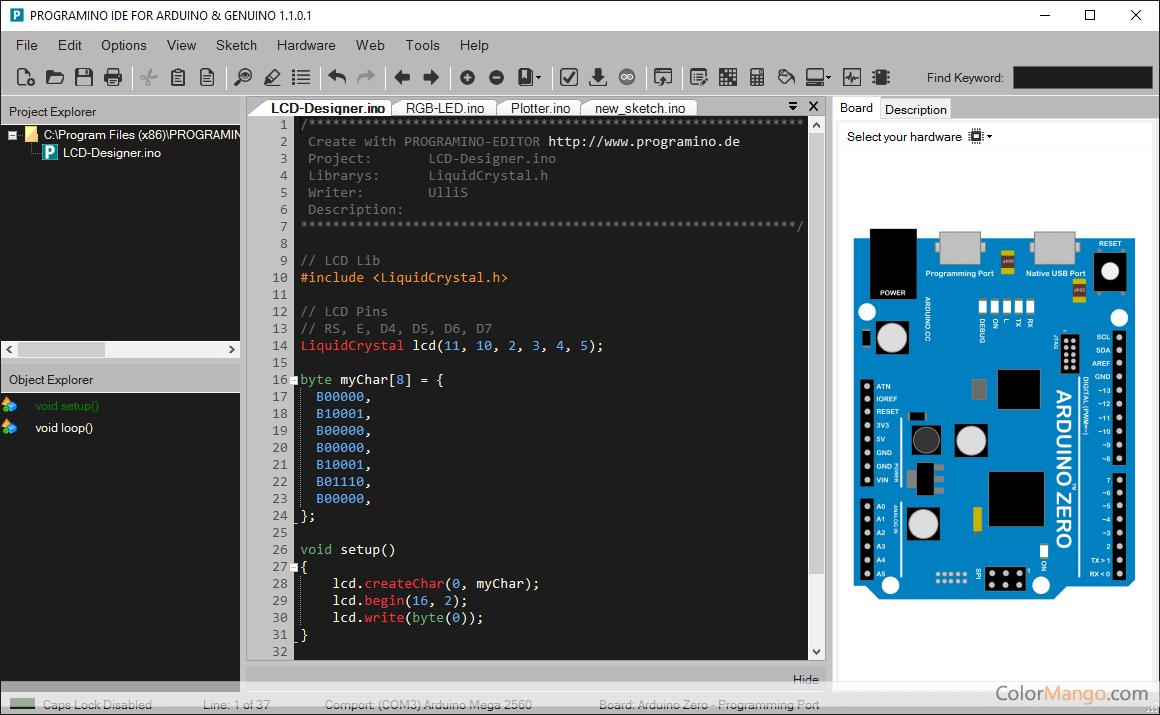 PROGRAMINO IDE for Arduino Screenshot