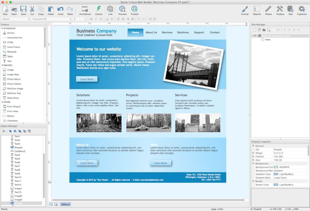 Quick 'n Easy Web Builder Screenshot