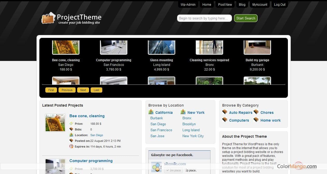 SiteMile WordPress Project Bidding Theme Screenshot