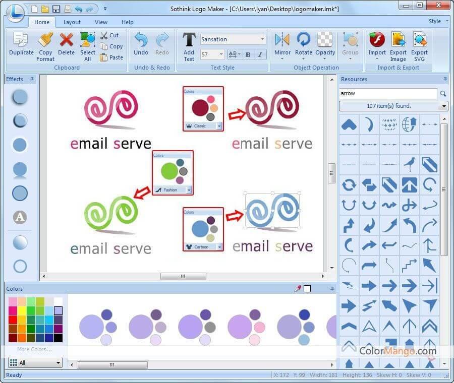 Sothink Logo Maker Bildschirmfoto