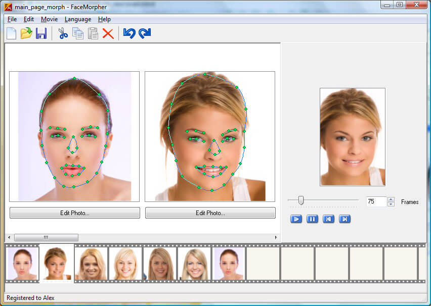 Luxand FaceMorpher Screenshot
