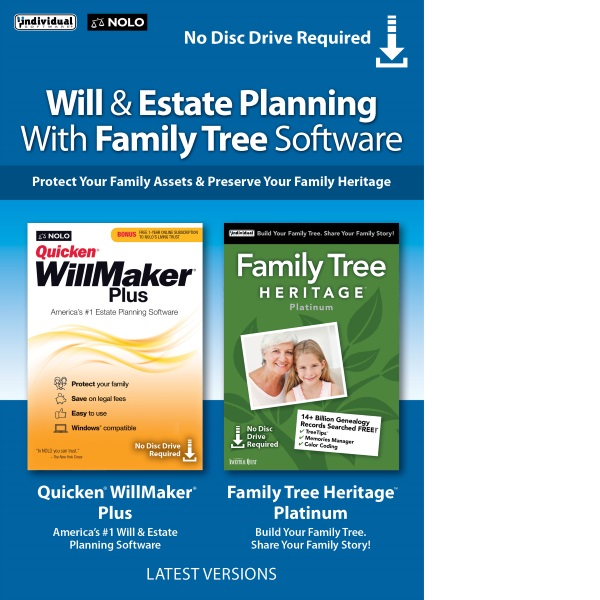 Will & Estate Planning with Family Tree Bundle