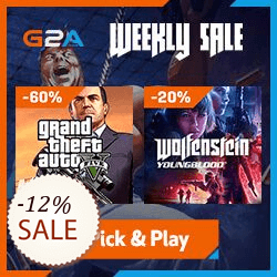 G2A Gift cards Discount Coupon