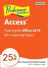 Professor Teaches Access 2019 Discount Coupon