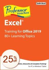 Professor Teaches Excel 2019 Discount Coupon