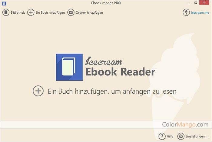 Icecream Ebook Reader Pro Screenshot