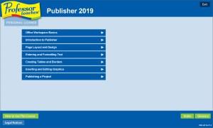 Professor Teaches Publisher 2019 Screenshot