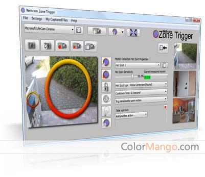Webcam Zone Trigger Screenshot