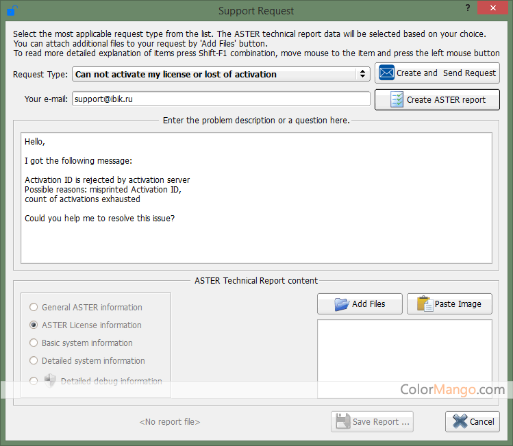 ASTER Pro Screenshot