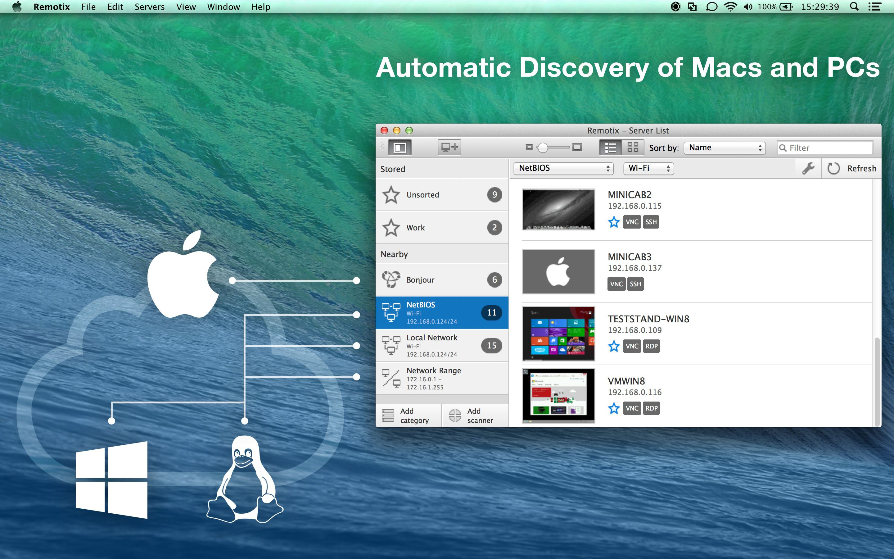 Remotix for Mac Capturas de tela