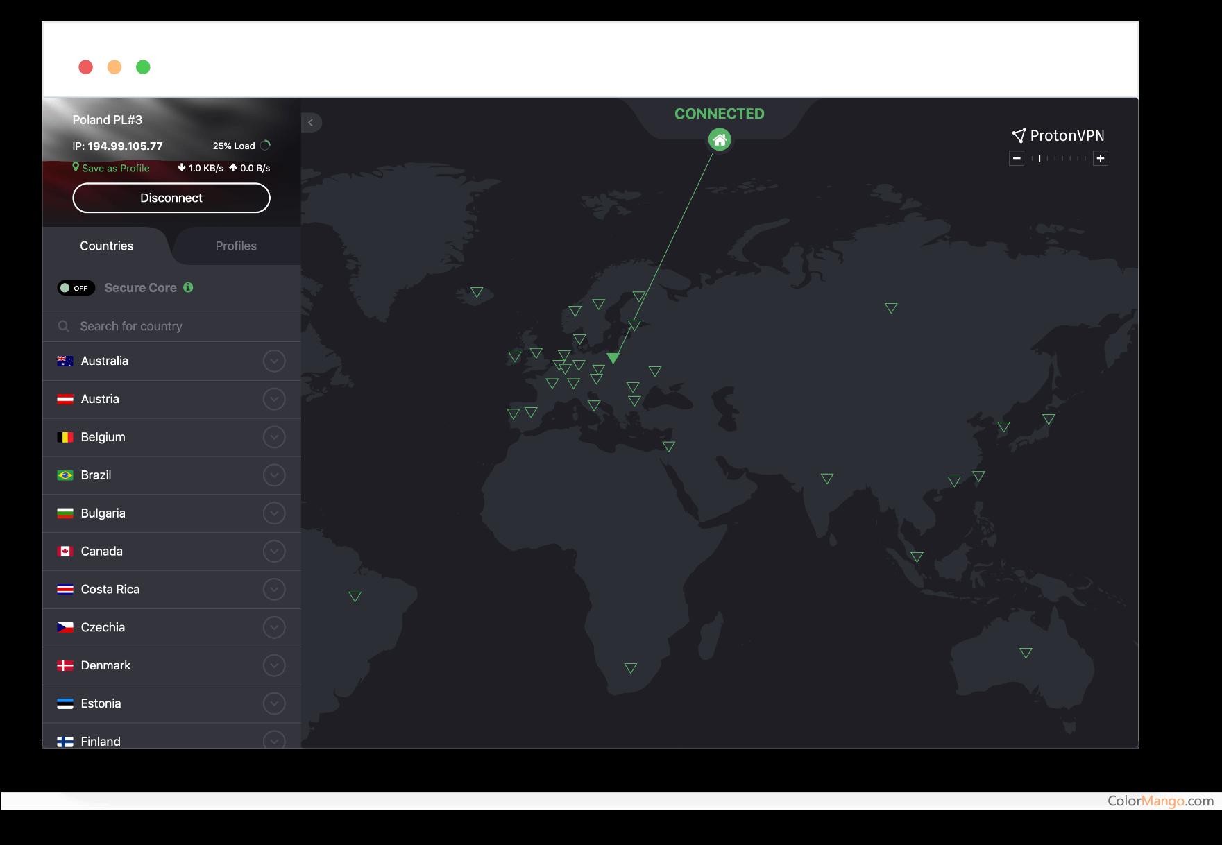 ProtonVPN Screenshot