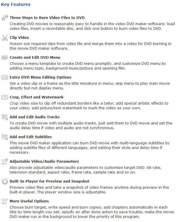4Media DVD Creator Features